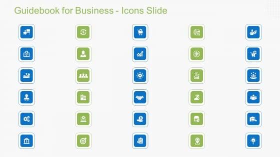 Guidebook For Business Guidebook For Business Icons Slide Structure PDF