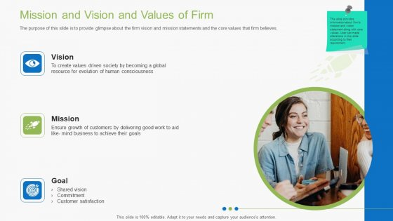 Guidebook For Business Mission And Vision And Values Of Firm Themes PDF