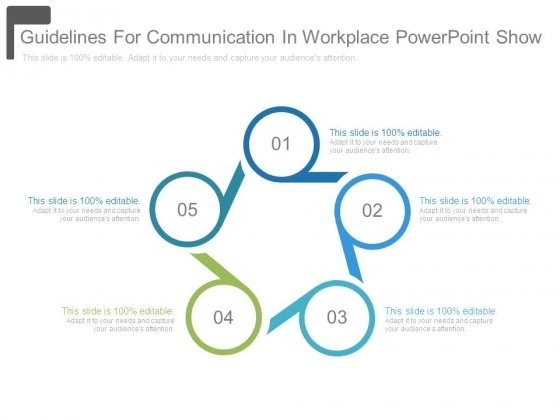 Guidelines For Communication In Workplace Powerpoint Show