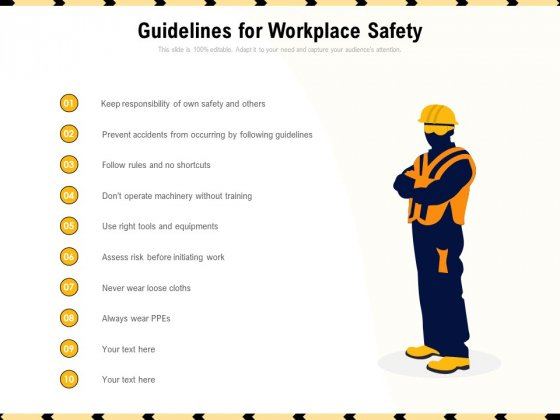 Guidelines For Workplace Safety Ppt PowerPoint Presentation Gallery Styles PDF