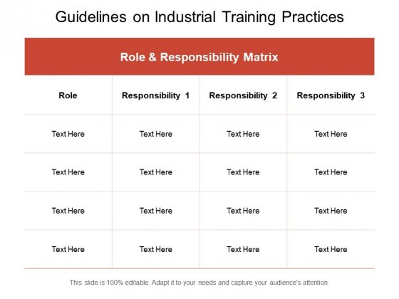 Guidelines On Industrial Training Practices Ppt PowerPoint Presentation Show PDF