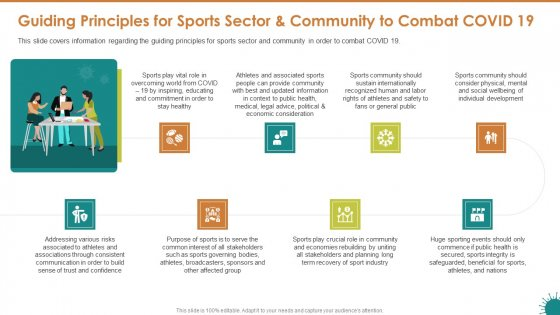 Guiding Principles For Sports Sector And Community To Combat COVID 19 Designs PDF