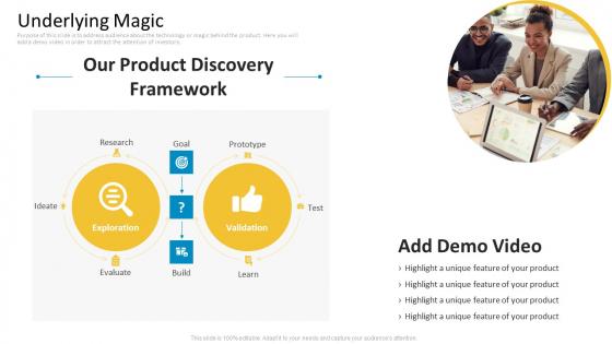 Guy Kawasaki New Venture Pitch PPT Underlying Magic Portrait PDF