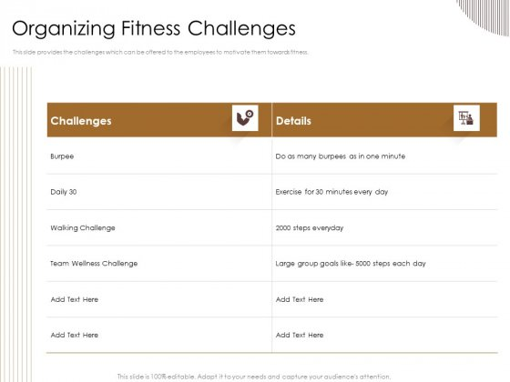 Gym Consultant Organizing Fitness Challenges Portrait PDF