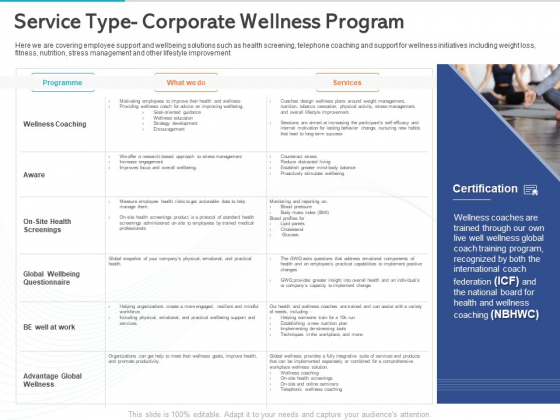 Gym Health And Fitness Market Industry Report Service Type Corporate Wellness Program Sample PDF