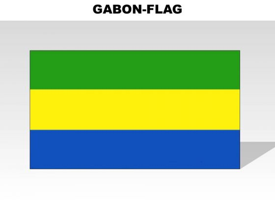 Gabon Country PowerPoint Flags
