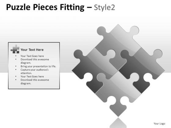 Game Puzzle Pieces Fitting PowerPoint Slides And Ppt Diagram Templates