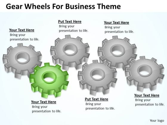 Gear Wheels For Business Theme Ppt Computer Plan PowerPoint Slides