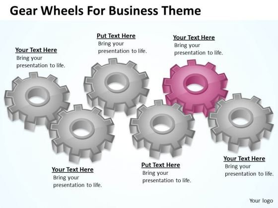 Gear Wheels For Business Theme Ppt Frozen Yogurt Plan PowerPoint Slides