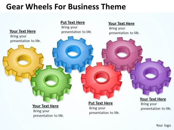 Gear Wheels For Business Theme Ppt Personal Plan PowerPoint Slides