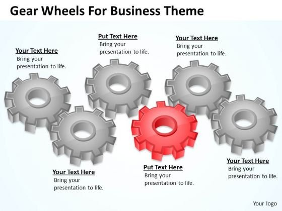 Gear Wheels For Business Theme Ppt Plan Summary PowerPoint Slides