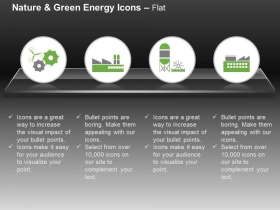 Gears With Factory And Plant For Green Energy Production Ppt Slides Graphics