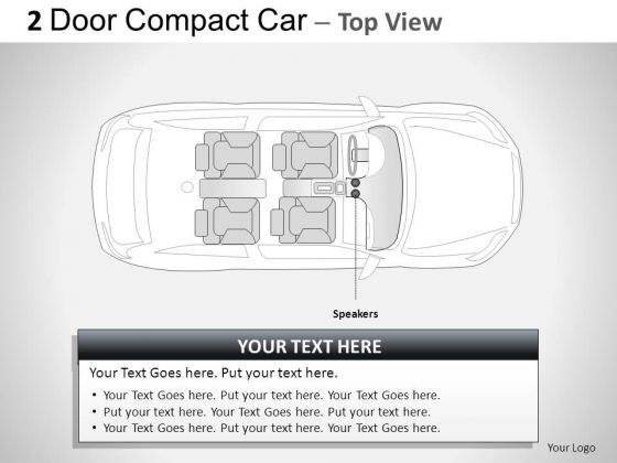 Germany 2 Door Blue Car Top PowerPoint Slides And Ppt Diagram Templates