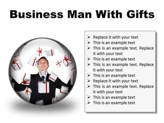 Gifts Man Business PowerPoint Presentation Slides C