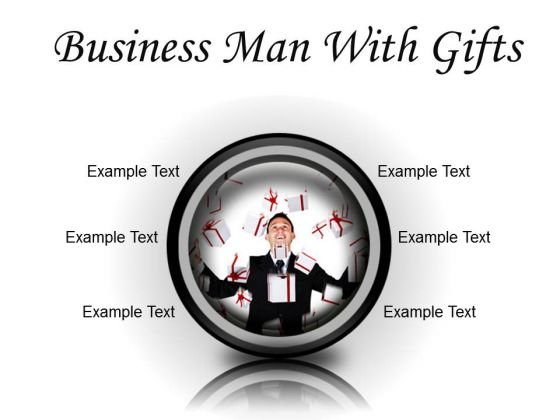 Gifts Man Business PowerPoint Presentation Slides Cc