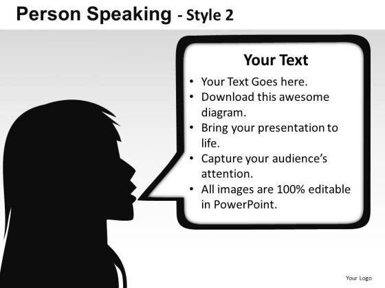 Girl Talking Callout PowerPoint Slides And Ppt Templates