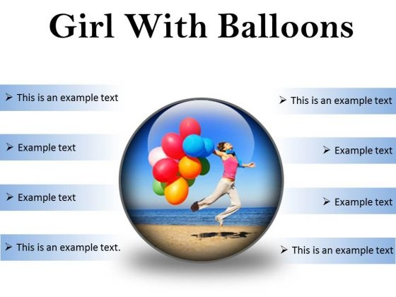 Girl With Balloons Holidays PowerPoint PowerPoint Presentation Slides C