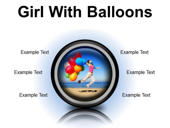 Girl With Balloons Holidays PowerPoint PowerPoint Presentation Slides Cc
