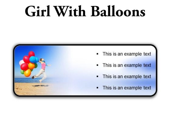 Girl With Balloons Holidays PowerPoint PowerPoint Presentation Slides R