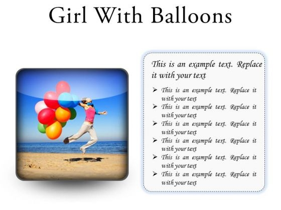 Girl With Balloons Holidays PowerPoint PowerPoint Presentation Slides S