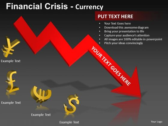 Global Currencies Recession PowerPoint Templates