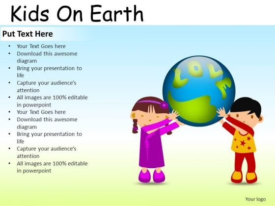 Global Kids On Earth PowerPoint Slides And Ppt Diagram Templates ...