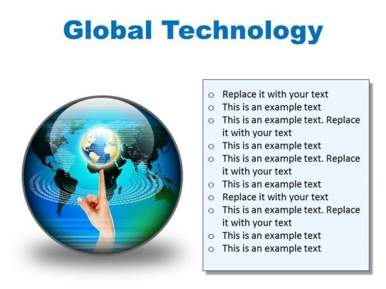 Global Technology Globe PowerPoint Presentation Slides C