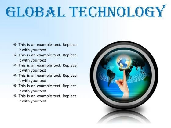 Global Technology Globe PowerPoint Presentation Slides Cc
