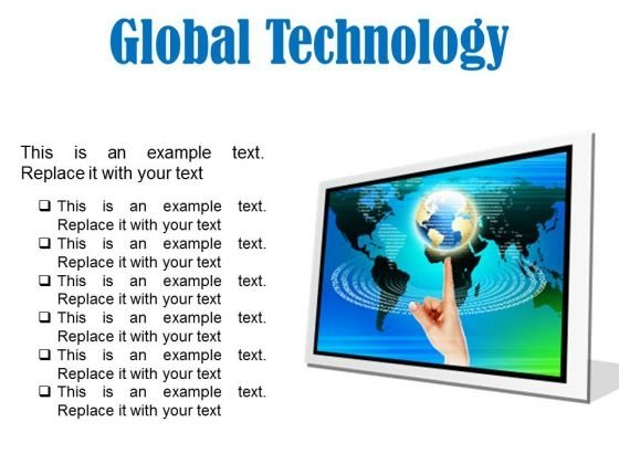Global Technology Globe PowerPoint Presentation Slides F