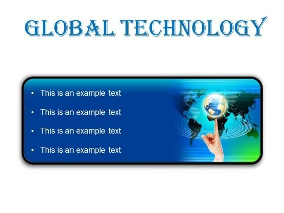 Global Technology Globe PowerPoint Presentation Slides R