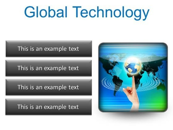 Global Technology Globe PowerPoint Presentation Slides S