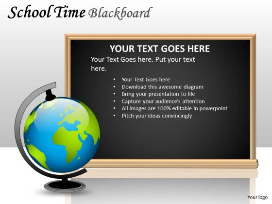 Globe Education Blackboard PowerPoint Slides And Ppt Diagram Templates