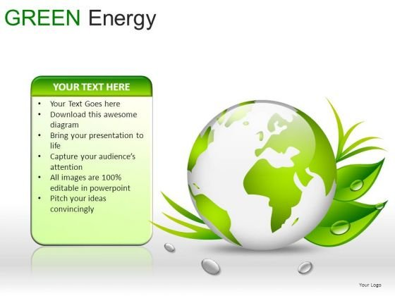 Globes Green Energy PowerPoint Slides And Ppt Diagram Templates