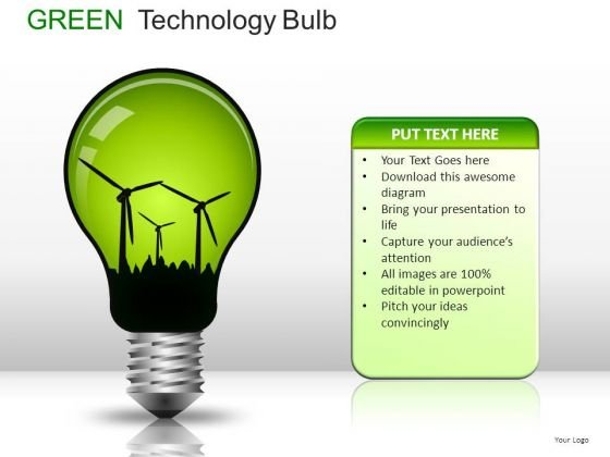 Globes Green Technology Bulb PowerPoint Slides And Ppt Diagram Templates
