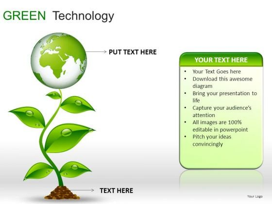 Globes Green Technology Icons PowerPoint Slides And Ppt Diagram Templates