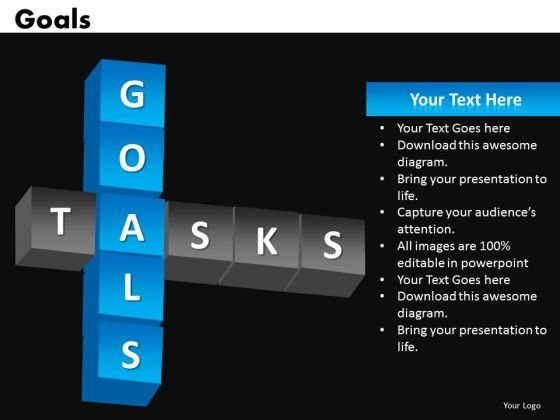 Goals PowerPoint Templates Tasks Ppt Slides