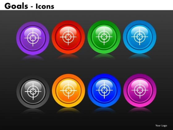 Goals Sights Icons PowerPoint Slides