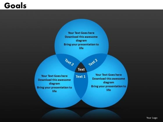 Goals Venn Diagrams PowerPoint Templates Ppt Slides