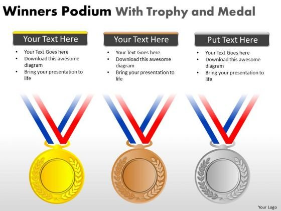 Gold Medal Winners Podium PowerPoint Slides And Ppt Diagram Templates