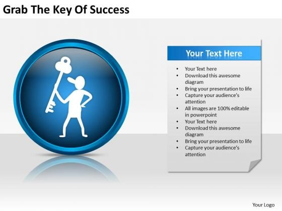 Grab The Key Of Success Ppt Business Plans For Start Ups PowerPoint Slides
