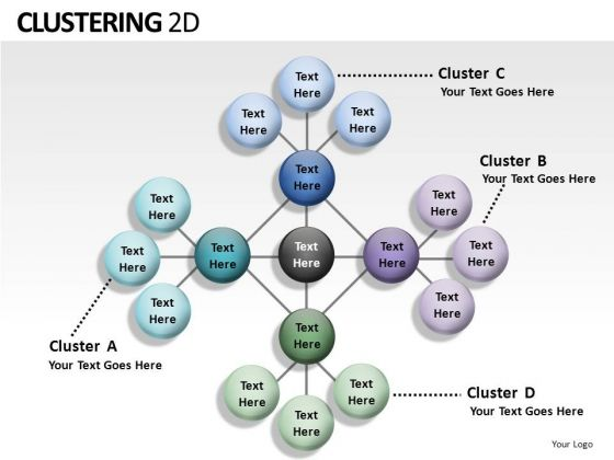 Graph Clustering 2d PowerPoint Slides And Ppt Diagram Templates