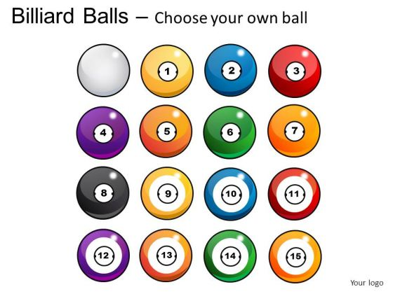 Graphic Billiard Balls PowerPoint Slides And Ppt Diagram Templates