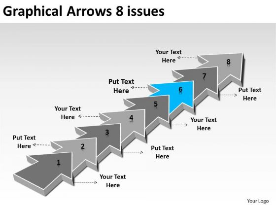 Graphical Arrows 8 Issues Ppt 7 Create Flow Chart Powerpoint