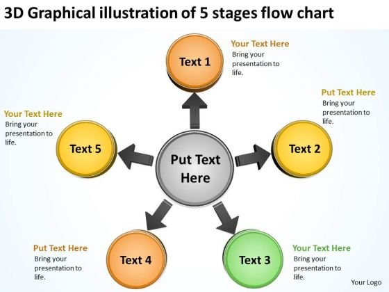 Graphical Illustration Of 5 Stages Flow Chart Circular Process PowerPoint Slides