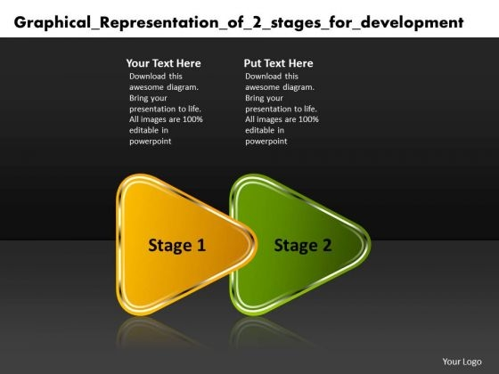 Graphical Representation Of 2 Stages For Development Electronic Circuit Design PowerPoint Templates