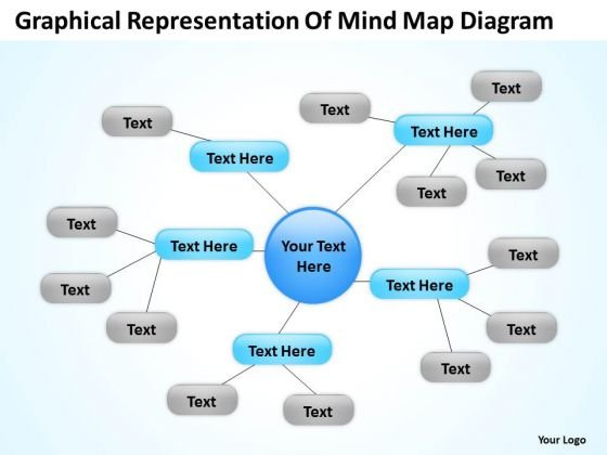 Graphical Representation Of Mind Map Diagram Ppt Business Plan PowerPoint Slides
