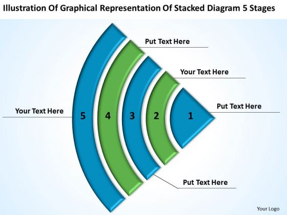 Graphical Representation Stacked Diagram 5 Stages Subway Business Plan PowerPoint Slides