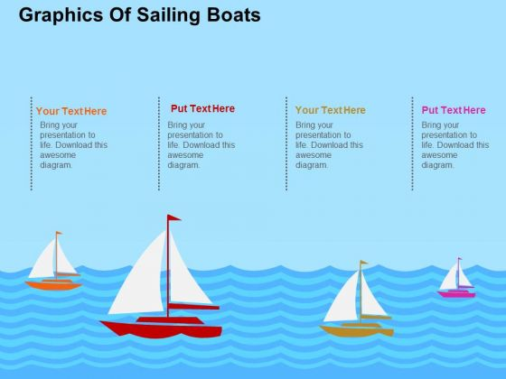 Graphics Of Sailings Boat PowerPoint Template