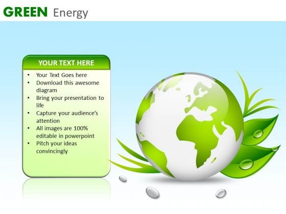 Green Earth PowerPoint Ppt Templates