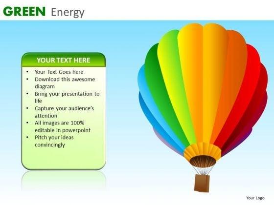 Green Energy Balloon PowerPoint Ppt Templates